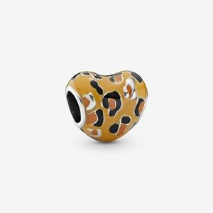 Authentic Pandora Spotted Heart Leopard Charm